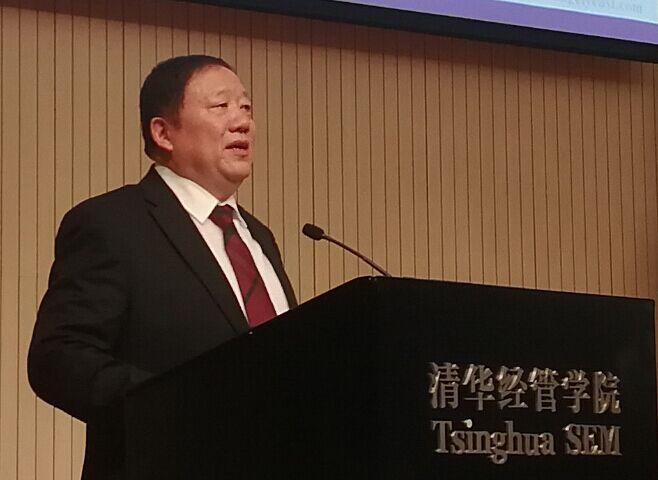 President Yu share experience at Tsinghua University