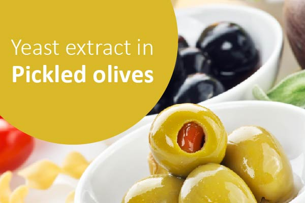 How to improve taste of pickled olives with yeast extract